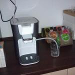 Unsere Kaffeestation ist aufgebaut, es kann los gehen!