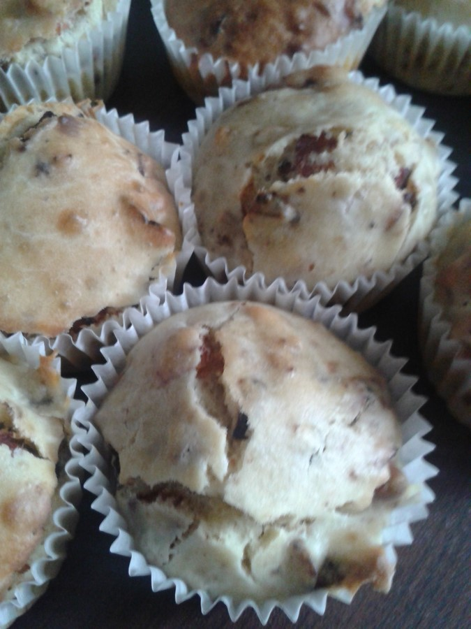 Muffins mit frischen Heidelbeeren