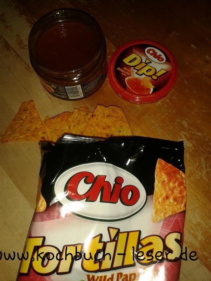 Chio Tortilla mit Honey Jalapeño Dip