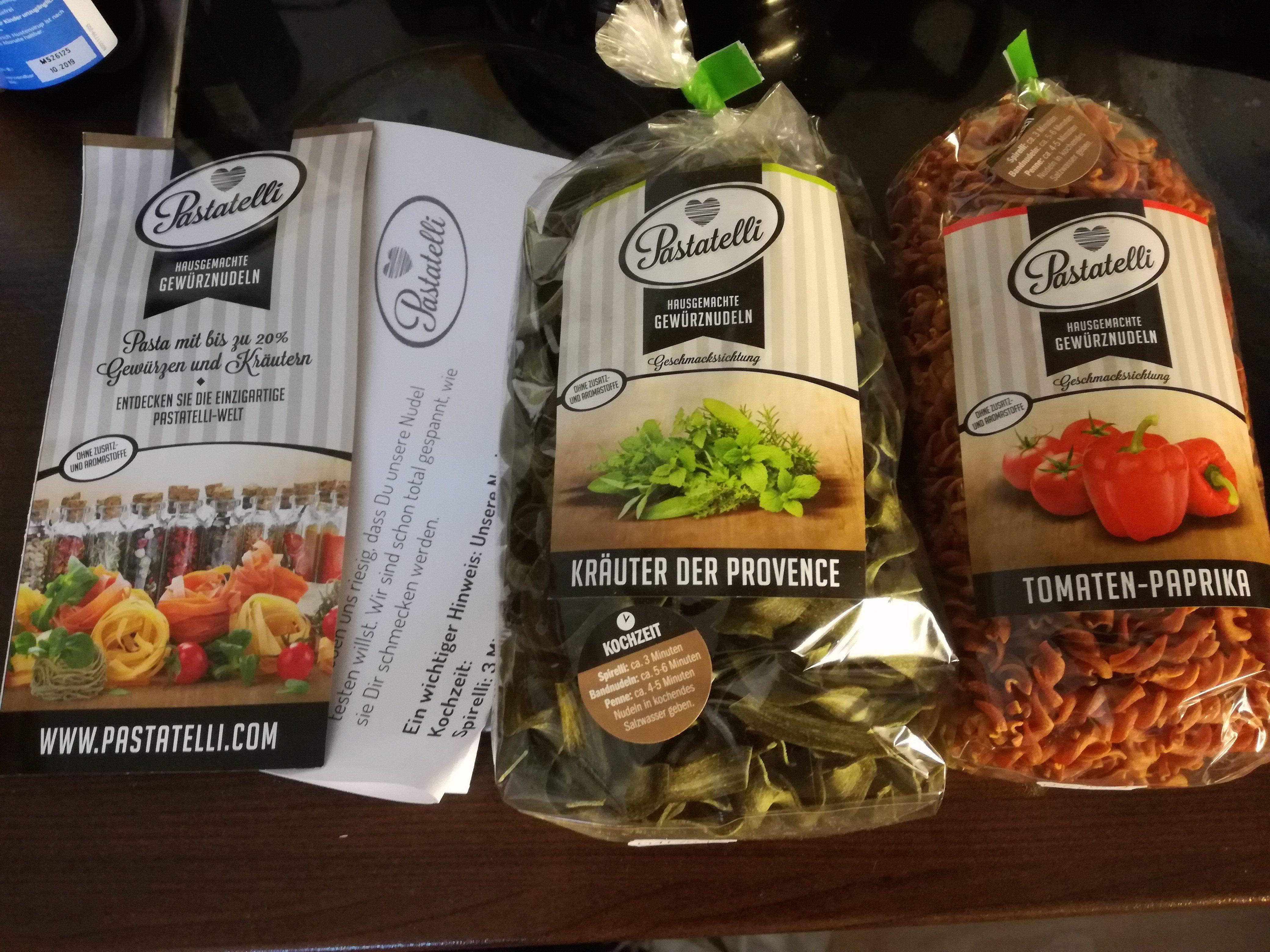 Nudeln von Pastatelli – farbig und lecker