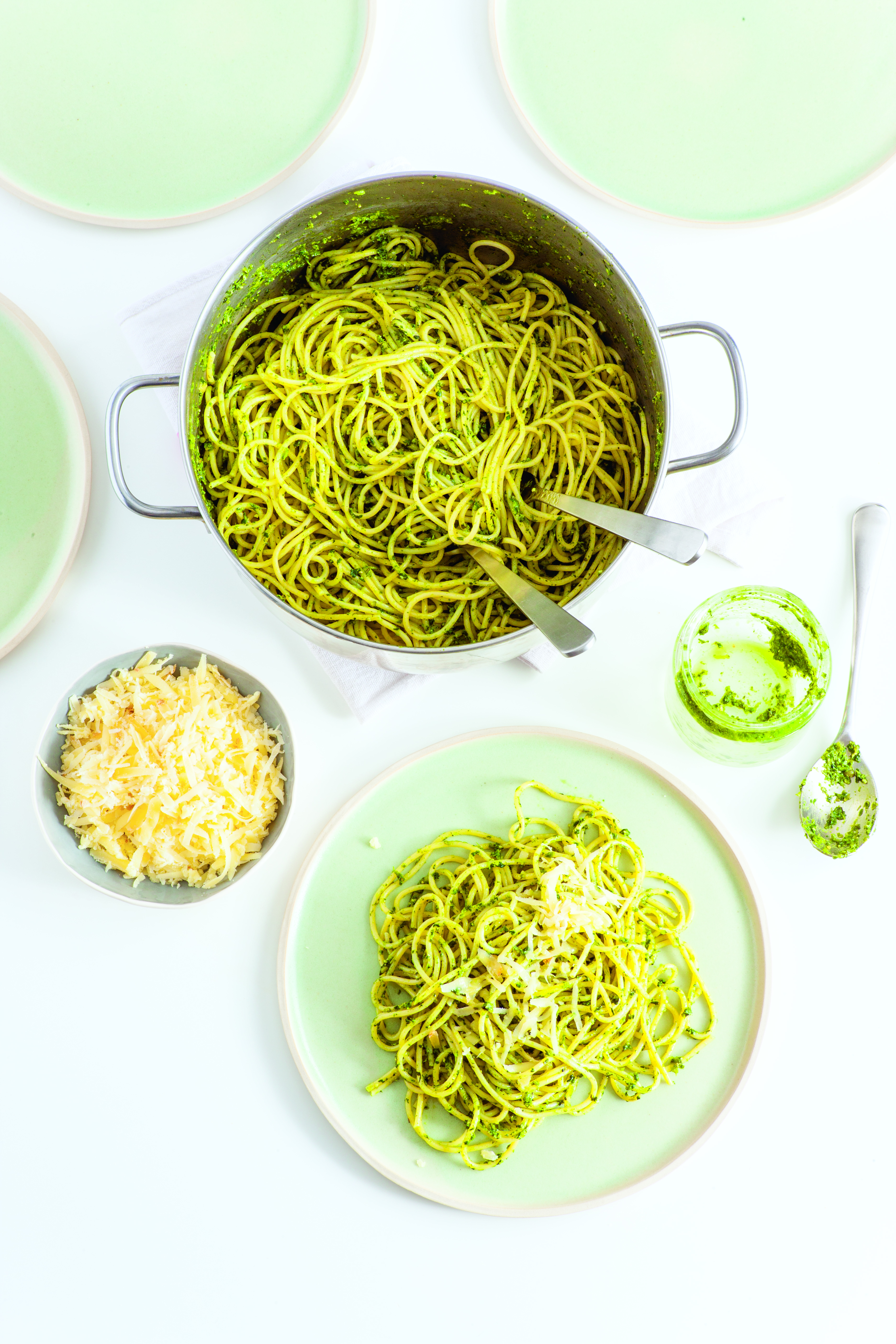 Pasta mit Pesto aus dem Buch Sunday Meal Prep