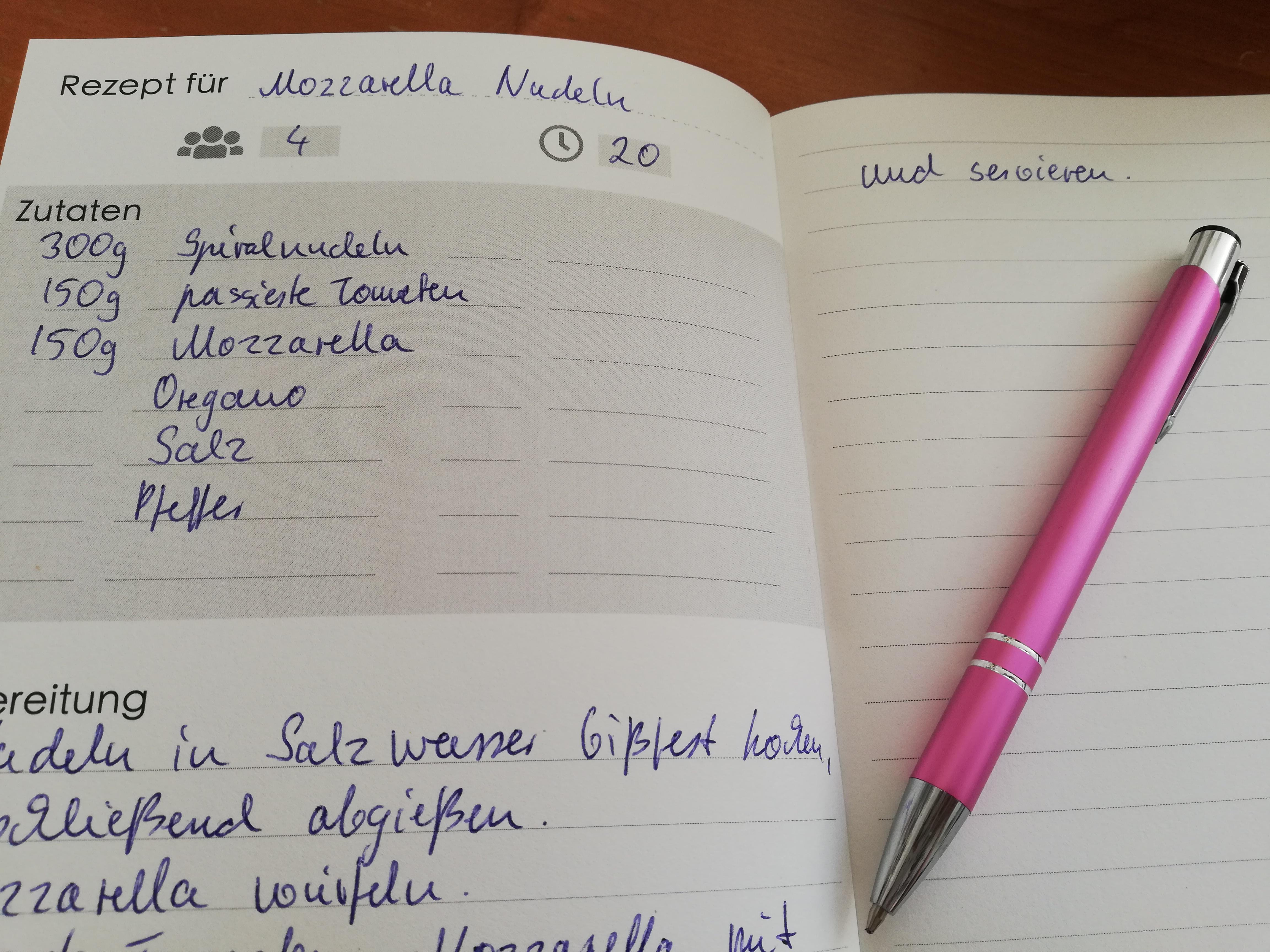 Rezepte selbst schreiben