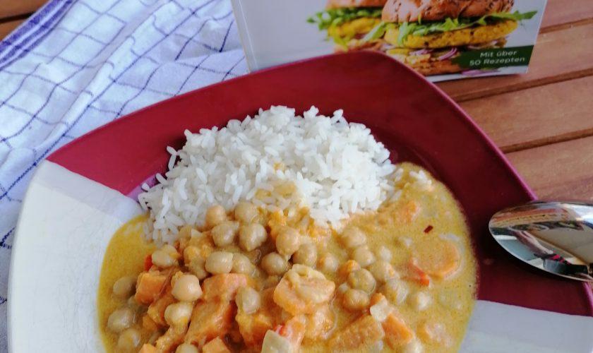 Rezept für Süßkartoffel-Curry aus dem Kochbuch zum Veganuary