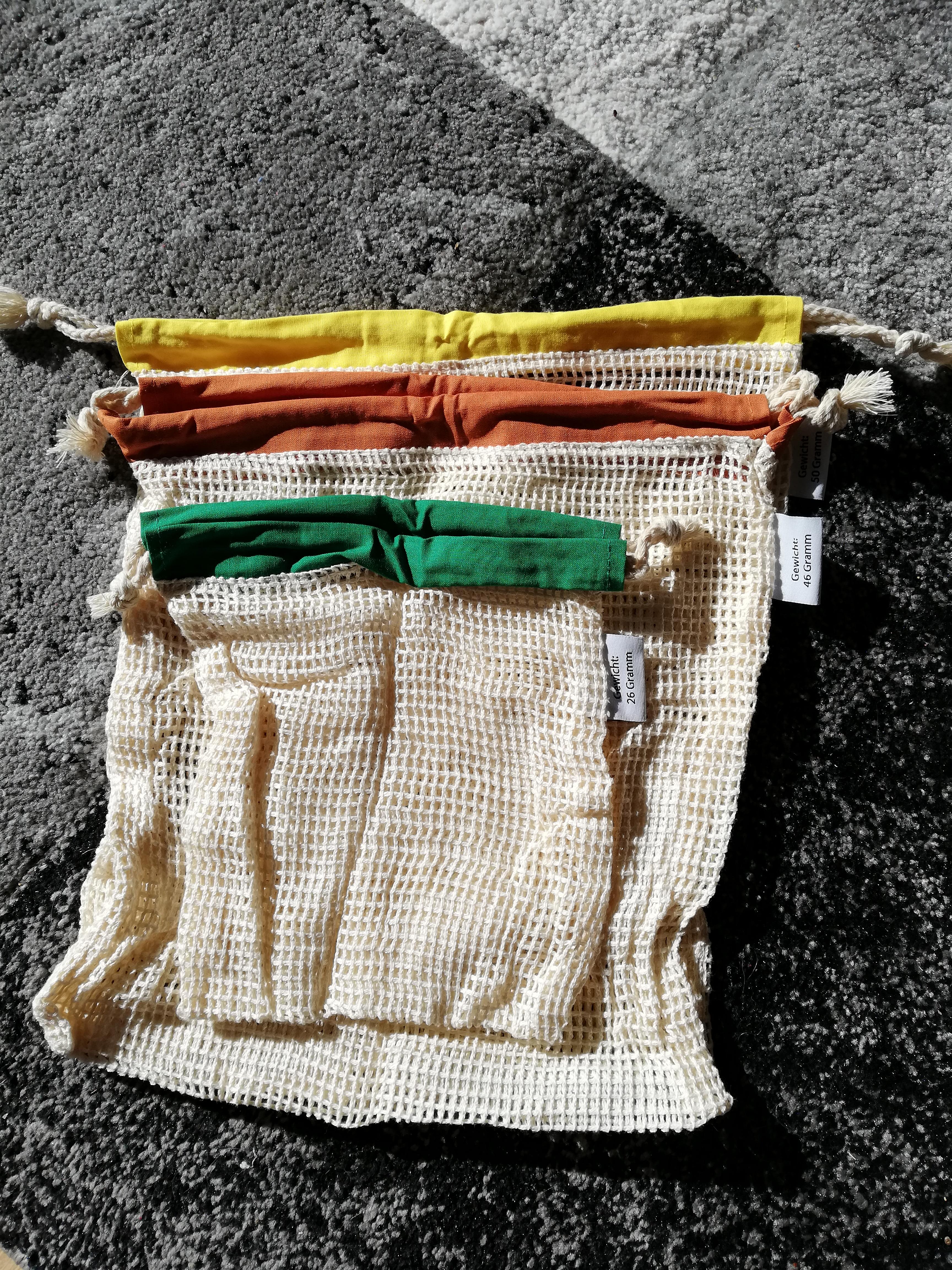Vatuum wiederverwendbare Obst- und Gemüsebeutel aus Baumwolle